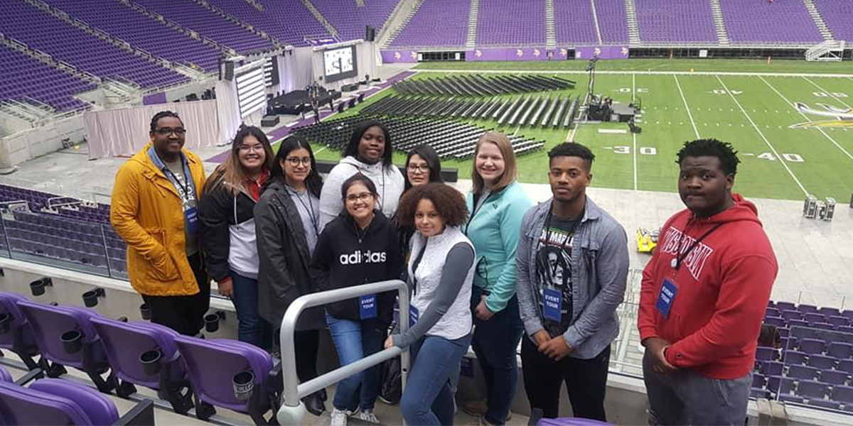 Students participate in service learning trip to Minneapolis, Minnesota.