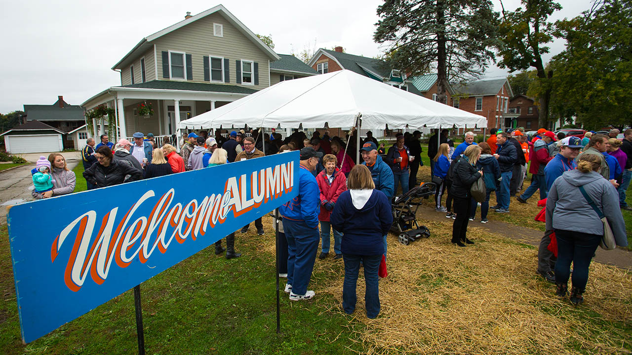 Alumni Homecoming Tent