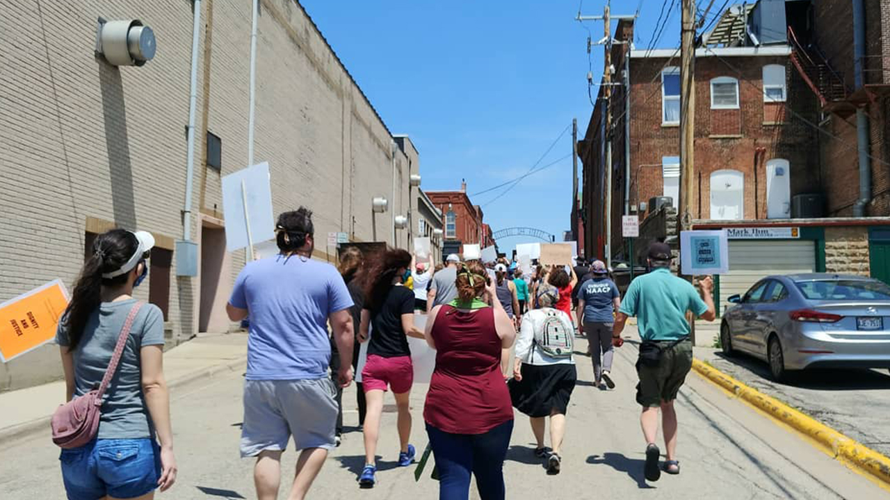 Peaceful protest held in Platteville on June 7