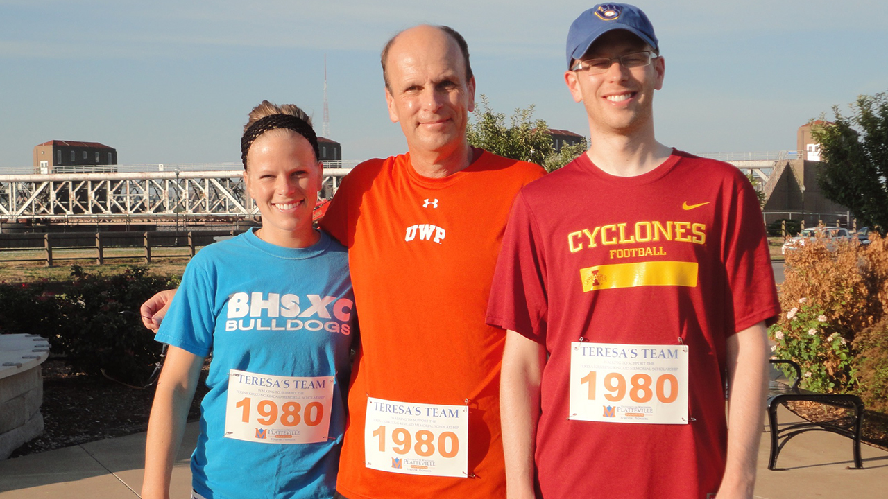Ann, John and Jacob participating in the Bix 7 race in 2010.