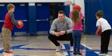 Students teach physical education homeschool program