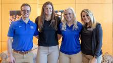 Student Event Organizers Wes Williams, Abby Doyle, Lauren Swanson and Laini Taylor