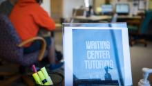 Writing Center Tutoring Sign